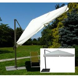 Parasol déporté Camaret alu et polyester 300x300 cm