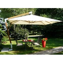 Parasol déporté Fibrasol Giens fibre de verre et polyester 300x400 cm