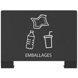 """Plaque signalétique tri sélectif """"EMBALLAGES """""""