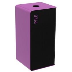 Poubelle de tri sélectif Cube 40L tri piles sans serrure