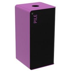 Poubelle de tri sélectif Cube 40L tri piles avec serrure
