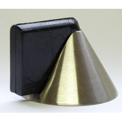 Lot de 10 butoirs de porte en zamak nickelé mat forme cône ø 4,8x2,6 cm