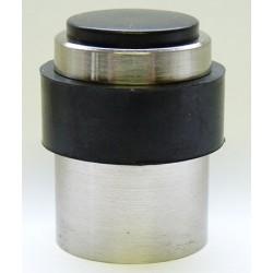 Lot de 10 butoirs de porte en aluminium avec capuchon en gomme ø3x4,3 cm