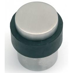 Lot de 10 butoirs de porte en inox brossé tête plate avec vis Ø2,9x4,1 cm