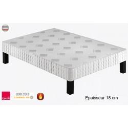 Sommier tapissier Luxury 180 lattes massives ép 18 cm 160x200 cm