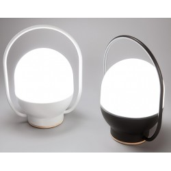 Lampe portable rechargeable Take Away blanche