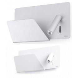 Applique liseuse gauche Suau avec plateau et port USB