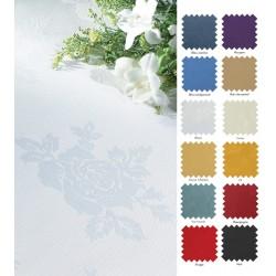 Nappes 100% polyester antitaches damassé  137x137cm