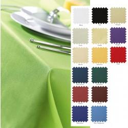 Nappe en polyester filé coloris uni 228x228 cm