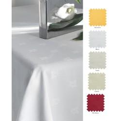 Nappe en polyester filé motif feuille de lierre Ø132 cm