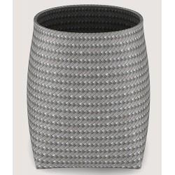 Corbeille ronde polyéthylène tressé gris 15 L