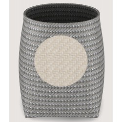 Corbeille ronde polyéthylène tressé ivoire 15 L