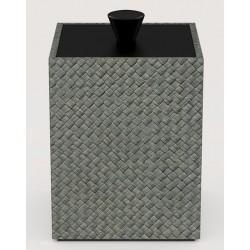 Boite Cube pandan gris L9 x P9 x H13 cm
