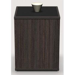 Boite Cube mendong tressé classique java L9 x P9 x H13 cm