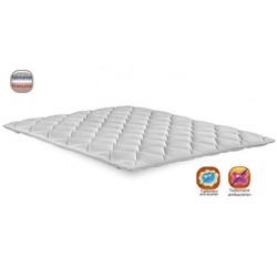 Surmatelas sweet stretch 100% polyester ép 6 cm maintien élastique 140x200 cm