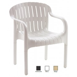 Lot de 12 fauteuils empilables Brignoles