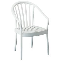 Lot de 8 fauteuils empilables extérieurs Agen