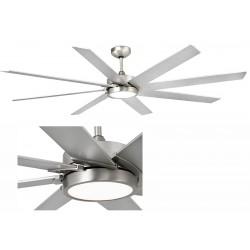 Ventilateur de plafond Century nickel mat avec Led ø165 cm