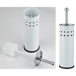 Balai-brosse WC Barry inox blanc (le lot de 6)