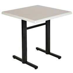 Table monobloc Bistro plateau stratifié moulé 70x70 cm