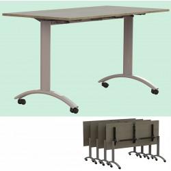 Table plateau rabattable Facile plateau stratifié 140x80 cm