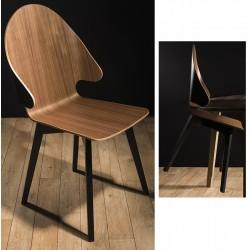 Chaise coque 4 pieds et appui sur table Evolution dossier haut N°2