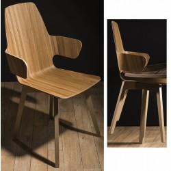 Chaise coque 4 pieds et appui sur table Evolution dossier haut N°4