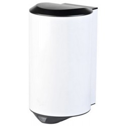 Sèche-mains compact anti-vandalisme 1200 W inox AISI 304 blanc