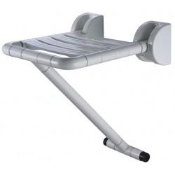 Siège de douche en aluminium et ABS fixation murale et pied