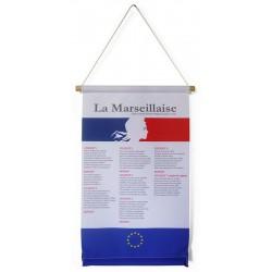 """Kakémono textile à suspendre A3 """"Marseillaise"""" modèle 3"""