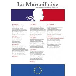 """Panneau affiche rigide en PVC A3 """"Marseillaise"""" modèle 3"""