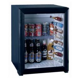 Minibar à absorption noir 30L porte vitrée