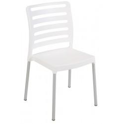 Lot de 40 chaises empilables polypropylène avec pieds aluminium Ibos