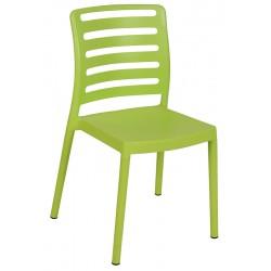 Lot de 40 chaises empilables polypropylène avec pieds plastique Ibos