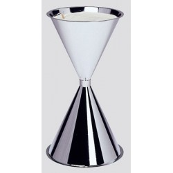 Cendrier conique 8L en inox brossé