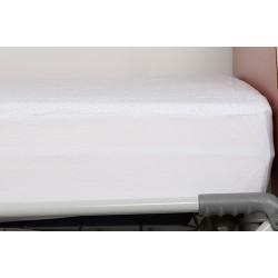 Drap housse en éponge enduite PVC avec pourtour jersey maille 90x200x15 cm