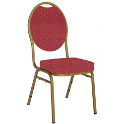Chaise empilable Réception cadre doré non feu M1
