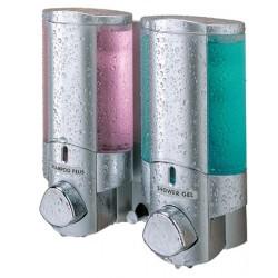 Distributeur de savon 2 réservoirs 300 ml chromé
