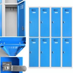 Vestiaire multicases  4 colonnes 2 cases L120 x P50 x H 180 cm