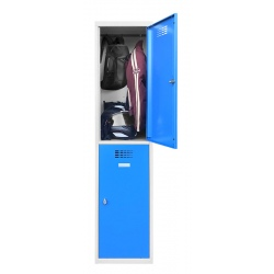 Vestiaire multicases  1 colonne 2 cases L40 x P50 x H 180 cm