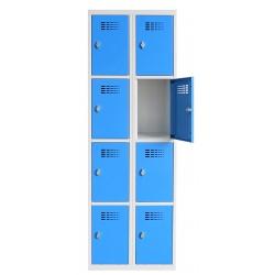 Vestiaire multicases  2 colonnes 4 cases L60 x P50 x H 180 cm