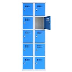 Vestiaire multicases  2 colonnes 5 cases L60 x P50 x H 180 cm