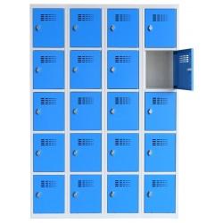 Vestiaire multicases  4 colonnes 5 cases L120 x P50 x H 180 cm