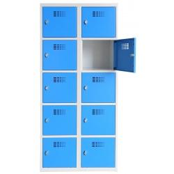 Vestiaire multicases  2 colonnes 5 cases L80 x P50 x H 180 cm