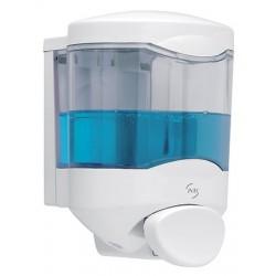 Distributeur de savon JVD HACCP bouton poussoir 450 ml
