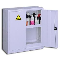 Armoire comptoir de sûreté pour produits peu dangereux à 2 portes L 92 x P 42 x H 100 cm
