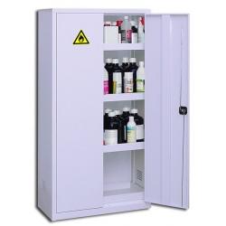 Armoire haute de sûreté pour produits peu dangereux à 2 portes grise L 92 x P 42 x H 180 cm