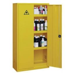 Armoire haute de sûreté pour produits peu dangereux à 2 portes jaune L 92 x P 42 x H 180 cm