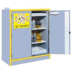 Armoire comptoir de sécurité 30 mn EN 14470-1 et FM avec 2 portes équipée L 109,2 x P 53,7 x H 119,8 cm