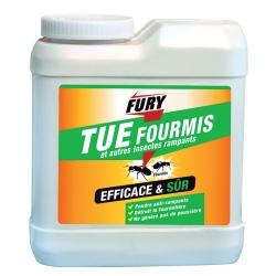 Lot de 6 boites de poudre fourmis et autres insectes rampants Fury 250 g